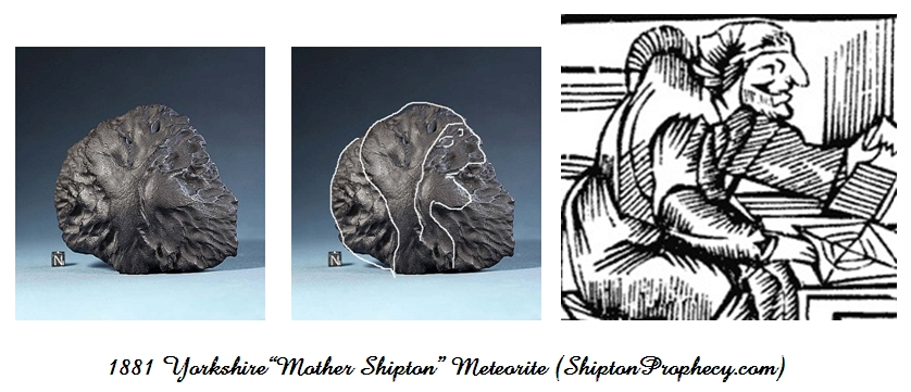 Eerie Mother Shipton Image in 1881 Yorkshire Meteorite