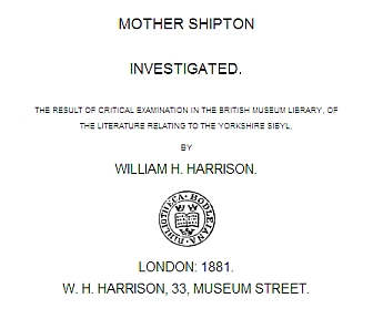 Mother Shipton Investigated